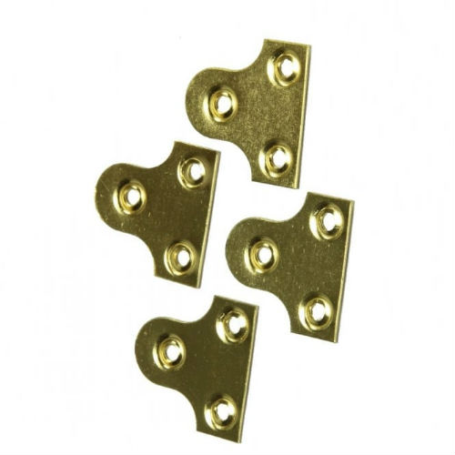 1 Inch Plain Glassplate Electroplated Brass (Pack of 4)