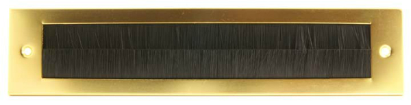 Gold Letterbox Draught Excluder Sleeved