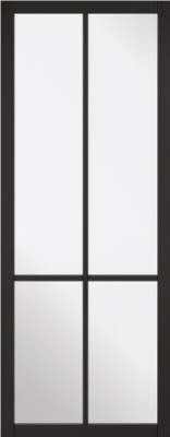 Internal Primed Black Liberty 4L Glazed Door