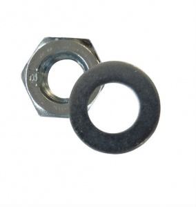 M6 Steel Nut and Washer Zinc Plated (pack of 20 + 20)