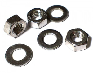 M8 Steel Nut and Washer Zinc Plated (pack of 20 + 20)