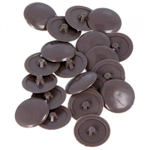 Brown Pozi Drive Cover Cap (Pack of 50)
