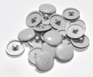 Grey Pozi Drive Cover Cap (Pack of 50)