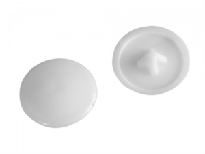 White Pozi Drive Cover Cap (Pack of 50)