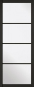 Internal Primed Black Soho 4L Glazed Door