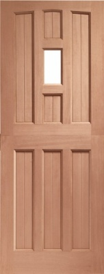 York External Hardwood Door 1 Light