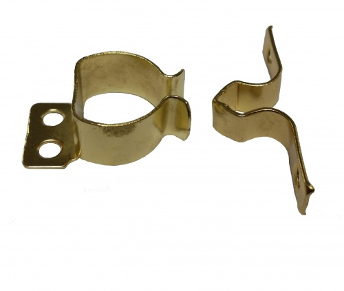 Steel Gripper Catch Electroplated Brass (Pack of 2)