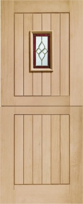 External Oak Chancery Stable with Brass Caming