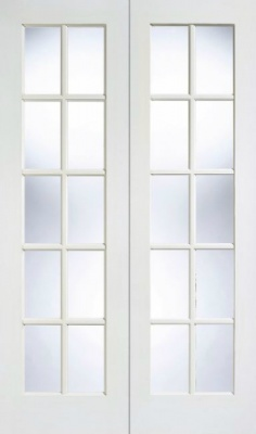 Internal White GTPSA Glazed Pairs Doors