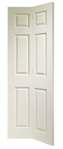 Colonist 6 Panel Bi-fold White Moulded Door
