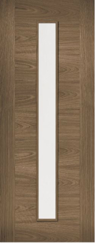 Internal Pre-Finished Walnut Sofia Glazed Door
