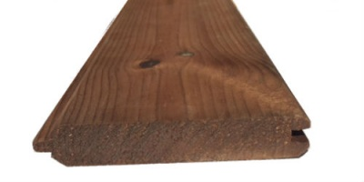 Brown Treated Double V T&G 25mm x 125mm x 4.5