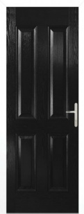 External Composite Carsington Black Door Set