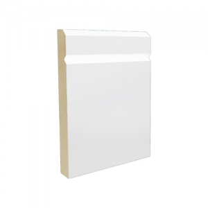 Pre-Finished White Chamfered Grooved Skirting 15mm x 119mm x 4.2m Lengths