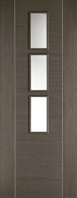Internal Pre-Finished Chocolate Grey Alcaraz Glazed Door