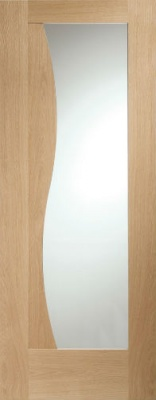 Internal Oak Emilia Clear Glazed Door