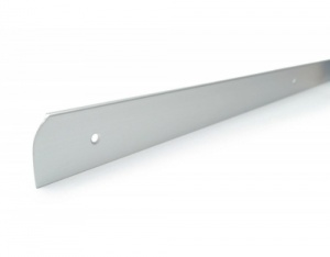 Worktop End Cap Trim 40mm Matt Silver