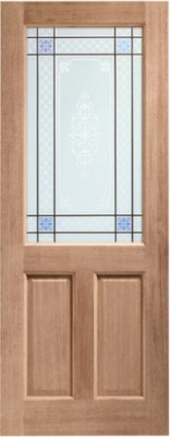 External Hardwood 2XG Door with Carroll Glass
