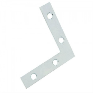 4'' Steel Flat Corner Plate (Pack of 1 Including Screws)