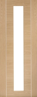 Internal Pre-finished Oak Forli Glazed Door