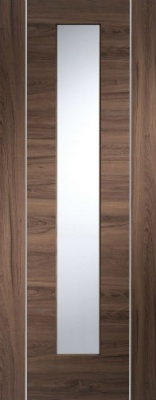 Internal Pre-finished Walnut Forli Glazed Door (78'' x 30'')