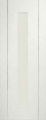 Internal Pre-finished White Forli Glazed Door (78'' x 30'')