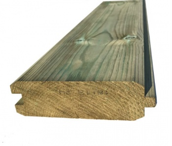 Heavy Duty T&G Cladding Pressure Treated Green 50mm x 150mm  (Finished Size 144mm x 44mm)