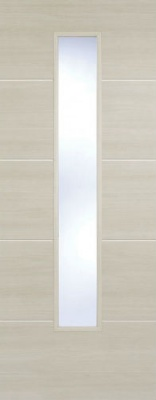 Internal Pre-Finished Ivory Laminate Santandor Glazed Door