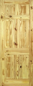 Internal Knotty Pine 6 Panel Door
