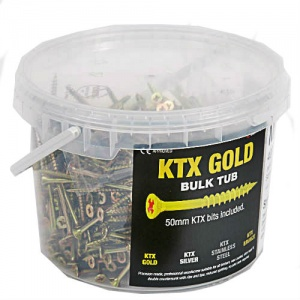 KTX Gold Self Cutting Screws Trade Tub