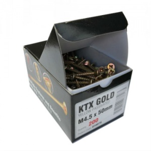 KTX Gold Self Cutting Screws M5.0 Gauge