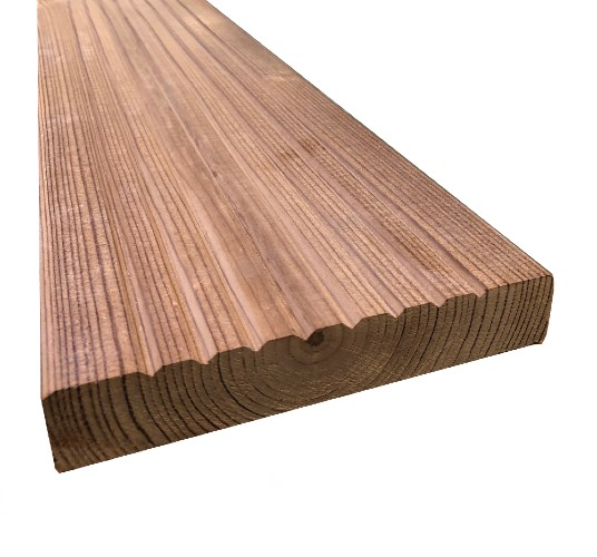 Heat Treated Thermowood Decking 125mm X 32mm Atlantic Timber