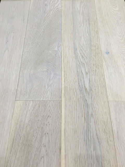 150mm X 14mm Engineered Oak Flooring Brushed White Oiled