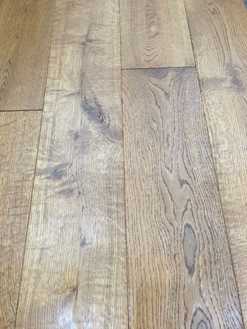150mm X 18mm Solid Butterscotch Oak Flooring Uv