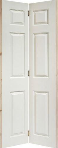 Internal Composite White 6 Panel Bi Fold Door Atlantic