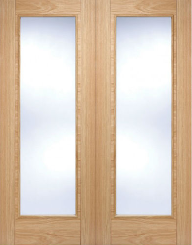 Internal Pre Finished Oak Vancouver Pattern 10 Glazed Door Pairs