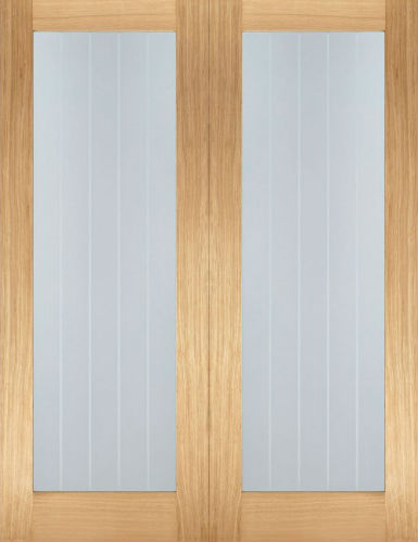 Internal Oak Mexicano Pattern 10 Glazed Door Pairs & Internal Oak Mexicano Pattern 10 Glazed Door Pairs - Atlantic Timber
