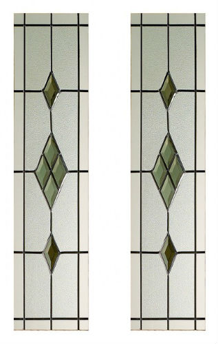 Smoked Abe Lead Glass Pack For Malton Door Atlantic Timber