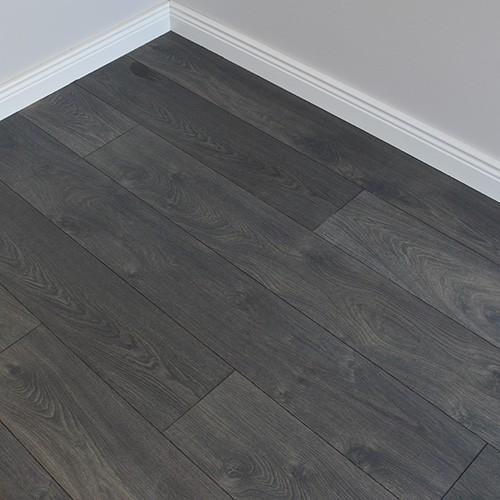 Vintage Laminate Embossed Collection, Dark Grey Laminate Flooring