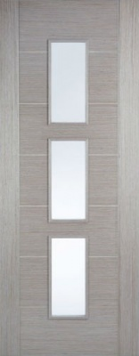 Internal Pre-Finished Light Grey Hampshire Glazed Door