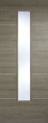 Internal Pre-Finished Light Grey Laminate Santandor Glazed Door