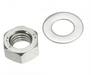 M5 Steel Nut and Washer Zinc Plated (pack of 20 + 20)