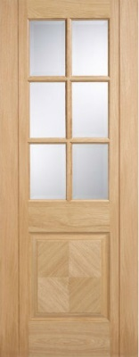 Internal Pre-Finished Oak Barcelona Glazed Door