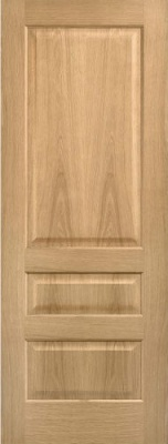 Internal Pre-Finished Oak Contemporary 3 Panel Door