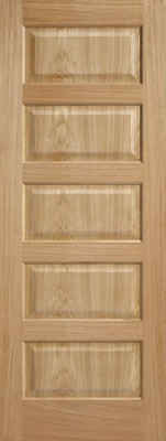 Internal Pre-Finished Oak Contemporary 5 Panel Door