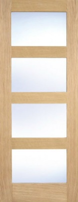 Internal Oak Contemporary 4 Light Door