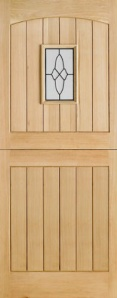 External Oak Cottage Stable 1 Light Door