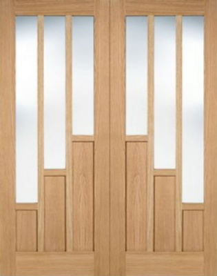 Internal Pre-Finished Oak Coventry Door Pairs