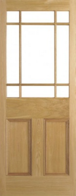 Internal Oak Downham Unglazed Door