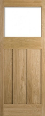 Internal Oak DX 30's Style Unglazed Door